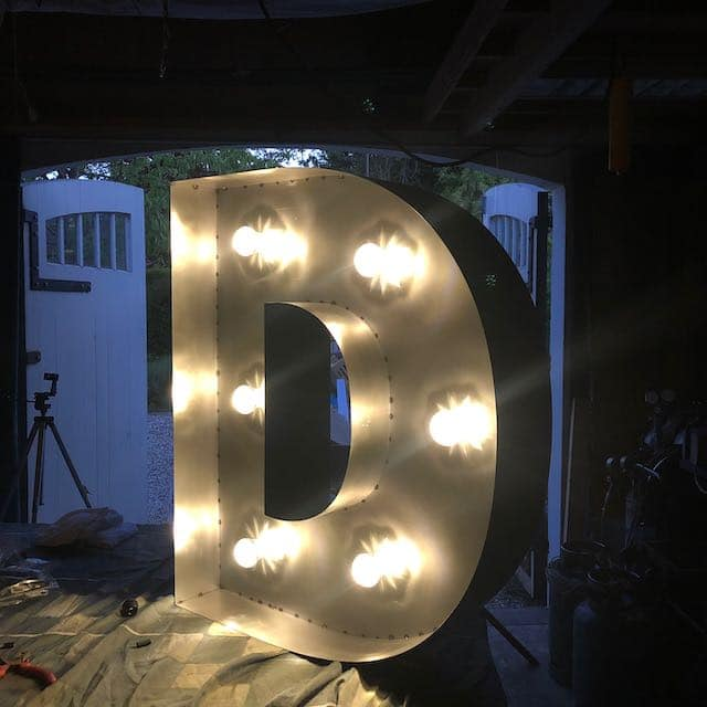 marquee letter steel