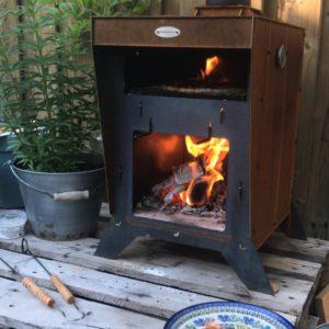 Compacte pizzaoven vuur