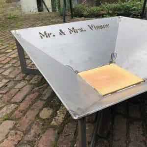 Vuurschaal voor bruiloft