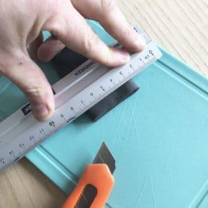 snijden rubber handvat